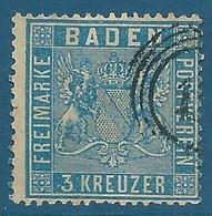 Bade N°10 3k Outremer Oblitéré - Baden