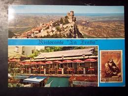"""San Marino: Ristorante """"La Fratta"""". Cartolina Pubblicitaria Anni '60 Vg 1970 - San Marino"""