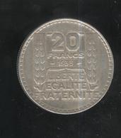20 Francs France Turin 1933  - TTB++ - France