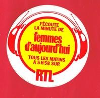 1 Autocollant RADIO RTL FEMMES D'AUJOUR'HUI - Autocollants