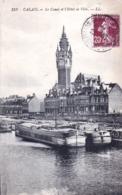62 - Pas De Calais -  CALAIS - Le Canal Et L Hotel De Ville - Peniches - Calais