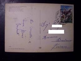 San Marino: Saluti. Cartolina Vg 1966 (affrancatura Tematica Ippica, Cavallo, Cavalli, Derby, Cross Country...) - San Marino