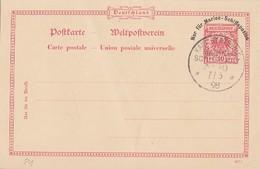 DR Ganzsache Dt. Marine-Schiffspost Minr.P1 Kais.-dt.-Marine-Schiffspost Nr.10  7.6.98 - Deutschland