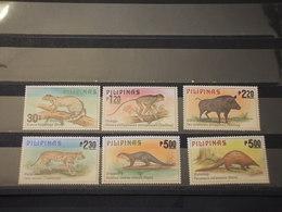FILIPPINE - 1979 ANIMALI 6 VALORI - NUOVI (++) - Filippine