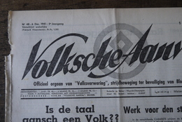 Wo2 Collaboratie Weekblad Volksche Aanval Dd 6/12/1941 Anti Joods Zeldzaam Blad - 1939-45