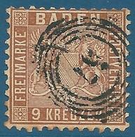 Bade N°15 9k Brun Oblitéré - Baden