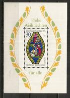 Vitrail Marial De L Eglise Ste Marie à Esslingen Am Neckar.Baden-Württemberg.Allemagne. Bloc-feuillet Neuf ** - Verres & Vitraux