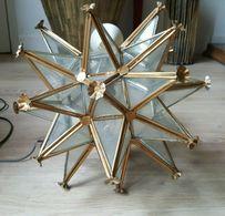Splendide Lustre Etoile à Multiple Branches En Verre / Moravian Star Light Glass - Luminaires