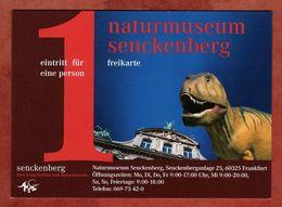 Eintrittskarte, Freikarte, Naturmuseum Senckenberg, Dinosaurier, Frankfurt (74787) - Eintrittskarten