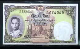 Thailand Banknote 5 Baht Series 9 Type 6 P#75d SIGN#41 UNC - Thailand