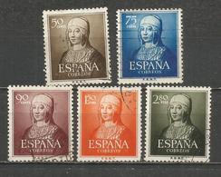 ESPAÑA ISABEL LA CATOLICA EDIFIL NUM. 1092/1096 SERIE COMPLETA USADA - 1931-Hoy: 2ª República - ... Juan Carlos I