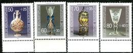 BRD - Mi 1295 / 1298 - ** Postfrisch (I) - Kostbare Gläser,  Wohlfahrt 86 - Unused Stamps