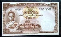 Thailand Banknote 10 Baht Series 9 Type 6 P#76d SIGN#44 UNC - Thailand