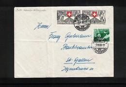 Schweiz / Switzerland 1953 Interesting Letter - Cartas