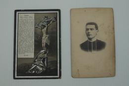 Doodsprentje Pastoor Dendermonde Leraar College Dendermonde Berlare De Beule Albert +1900 Foto 2stuks - Religión & Esoterismo