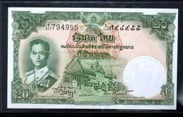 Thailand Banknote 20 Baht Series 9 Type 6 P#77d SIGN#41 UNC - Thailand