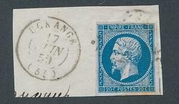 """CV-63: FRANCE: Lot """"CLASSIQUES""""  N°14A H (POSTFS) Sur Petit Fragment - 1853-1860 Napoleon III"""