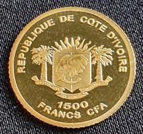 """Ivory Coast - 1500 Francs 2007 """"Chinese Wall"""" - Gold - Ivory Coast"""