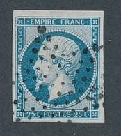 """CV-65: FRANCE: Lot """"CLASSIQUES""""  N°15 Obl étoile (pt  Clair) - 1853-1860 Napoleon III"""