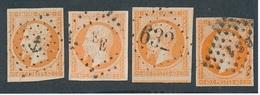 """CV-66: FRANCE: Lot """"CLASSIQUES""""  N°16 Obl (4 Pour Obl, Voir Scan) - 1853-1860 Napoleon III"""