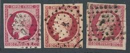 """CV-68: FRANCE: Lot """"CLASSIQUES""""  N°17 Obl Ambulants (3) - 1853-1860 Napoleon III"""