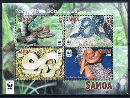 Bloc Sheet Reptiles Serpents Reptils Snakes  Boa WWF  Neuf  MNH ** Samoa 2015 - Serpents