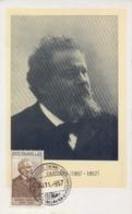 Italia 1957 Maximum Card 50° Anniversario Della Morte Del Poeta Giosué Carducci Premio Nobel 1906 Per La Letteratura - Premio Nobel