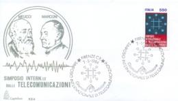 Italy 1984 FDC International Telecommunications Symposium In Florence - Telecom