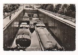 CPSM MAASBRACHT : Sluis ( Lage Stand ) Afvaart ( Péniches ) - Circulée En 1957 - Niederlande