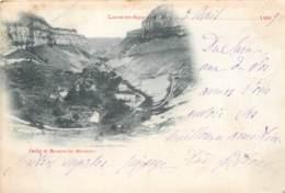 CARTE PRECURSEUR VALLEE DE BEAUME LES MESSIEURS  POSTEE 1899 TIMBRE TYPE SAGE EN PAIRE - Lons Le Saunier