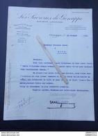 LES SUCRERIES DE GENAPPE  FACTURE,Document 1923 . - Vieux Papiers