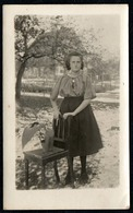 C6122 - Hübsche Junge Frau Im Rock - Pretty Young Women - Vintage - Mode Frisur - Fotografie