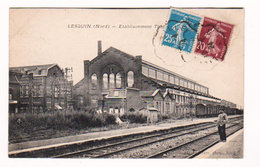 CPA LESQUIN (Nord) Etablissement THOMSON-HOUSTON Circulée En 1924 - Petite Anim - Ed. G. Lefebvre , Photo, Ascq - Frankreich