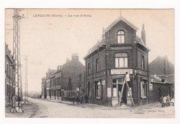 CPA LESQUIN (Nord) La Rue D'Ascq - Circulée En 1924 - Belle Anim - Café Du Coq Hardi - Ed. G. Lefebvre, Photo, Ascq - France