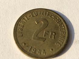 293/ 2 Francs 1944 France Libre - I. 2 Francs