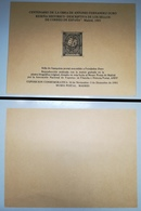 ESPAÑA SPAIN ESPAGNE 1981 HOJA RECUERDO CENTENARIO OBRA JUAN ANTONIO FERNÁNDEZ DURO EDIFIL 105 MNH - Commemorative Panes