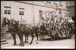 C6126 - Ebersdorf ?? Ruhmühle - Pferdegespann Gespann Pferdewagen - Fotografie