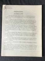 EXPO 58  «LE PAVILLON DU BRABANT «Description Technique Document Original. - Vieux Papiers