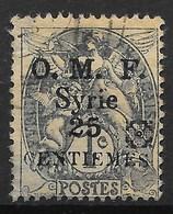 SYRIE : TYPE BLANC SURCHARGE AVEC FLEURON NOIR N° 48 OBLITERATION LEGERE - Syria (1919-1945)