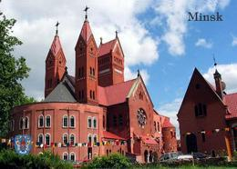 Belarus Minsk Red Church New Postcard Weißrussland AK - Weißrussland