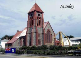 Falklands Islands Stanley Church New Postcard Malwinen AK - Falkland Islands