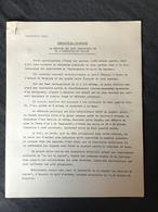 EXPO 58»LA SECTION DES ARTS GRAPHIQUES ET DE L'INDUSTRIE DU PAPIER «Description Technique Document Original.1958 - Vieux Papiers