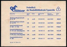 C6132 - DKK Kühlschrank Presiliste DDR - Werbepostkarten