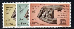 CI1282 - LIBIA LYBIA 1966 , Posta Aerea Yvert  N. 26/28  ***  Nubia - Libia