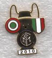 FBC Inter 2010 Tripleta Distintivi Coppa FootBall Soccer Pin Spilla Italy - Calcio