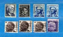 (Us2) USA °- 1965-66 - Americani Celebri. 794-795-796-796a-797-797a+b- 798. Senza 799 USED.  Vedi Descrizione - Stati Uniti