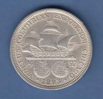 USA 1893 Kolumbus-Weltausstellung Gedenkmünze 1/2 Dollar Silber - Ohne Zuordnung