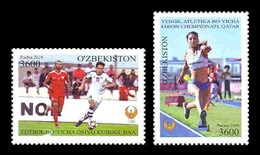 Uzbekistan 2019 Mih. 1346/47 Football. 2019 AFC Asian Cup In UAE And Athletics. IAAF World Championships In Qatar MNH ** - Uzbekistan