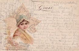 AK Künstlerkarte - Frau Mit Hut - 1899 (41619) - Illustrateurs & Photographes