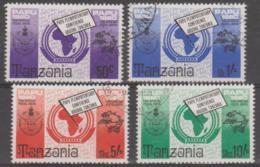 TANZANIA - 1980 UPU Postal Union. Scott 153-156. Used - Tanzania (1964-...)